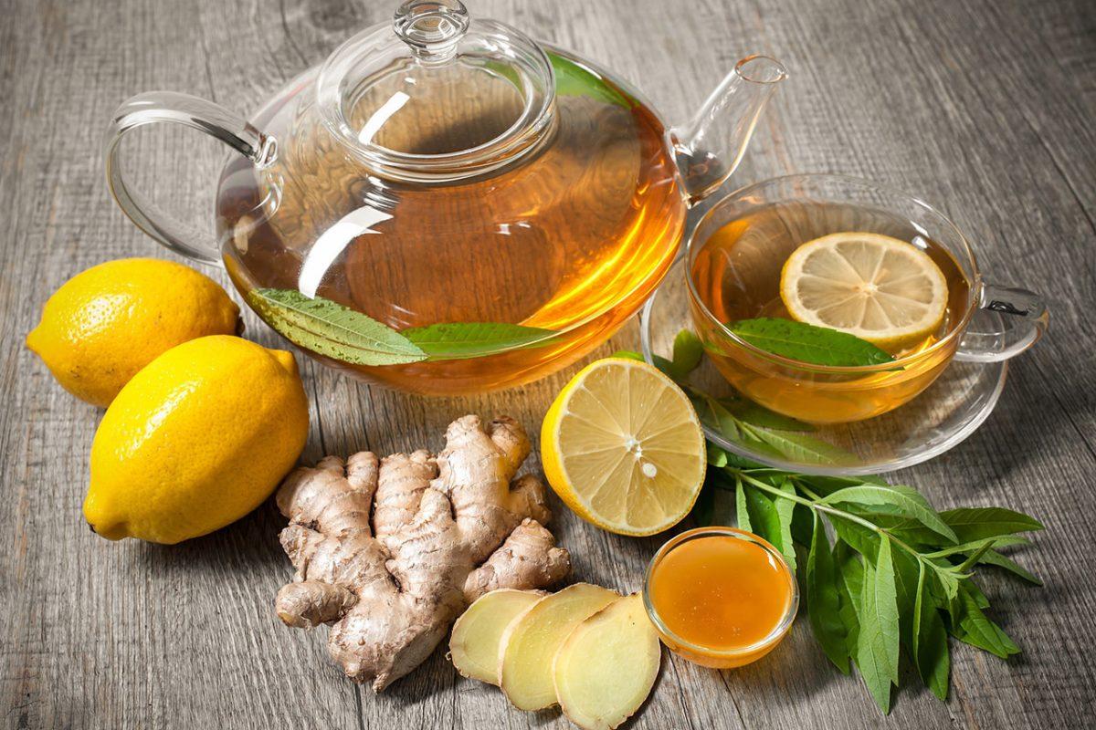 Как сделать напиток с имбирем и лимоном  293