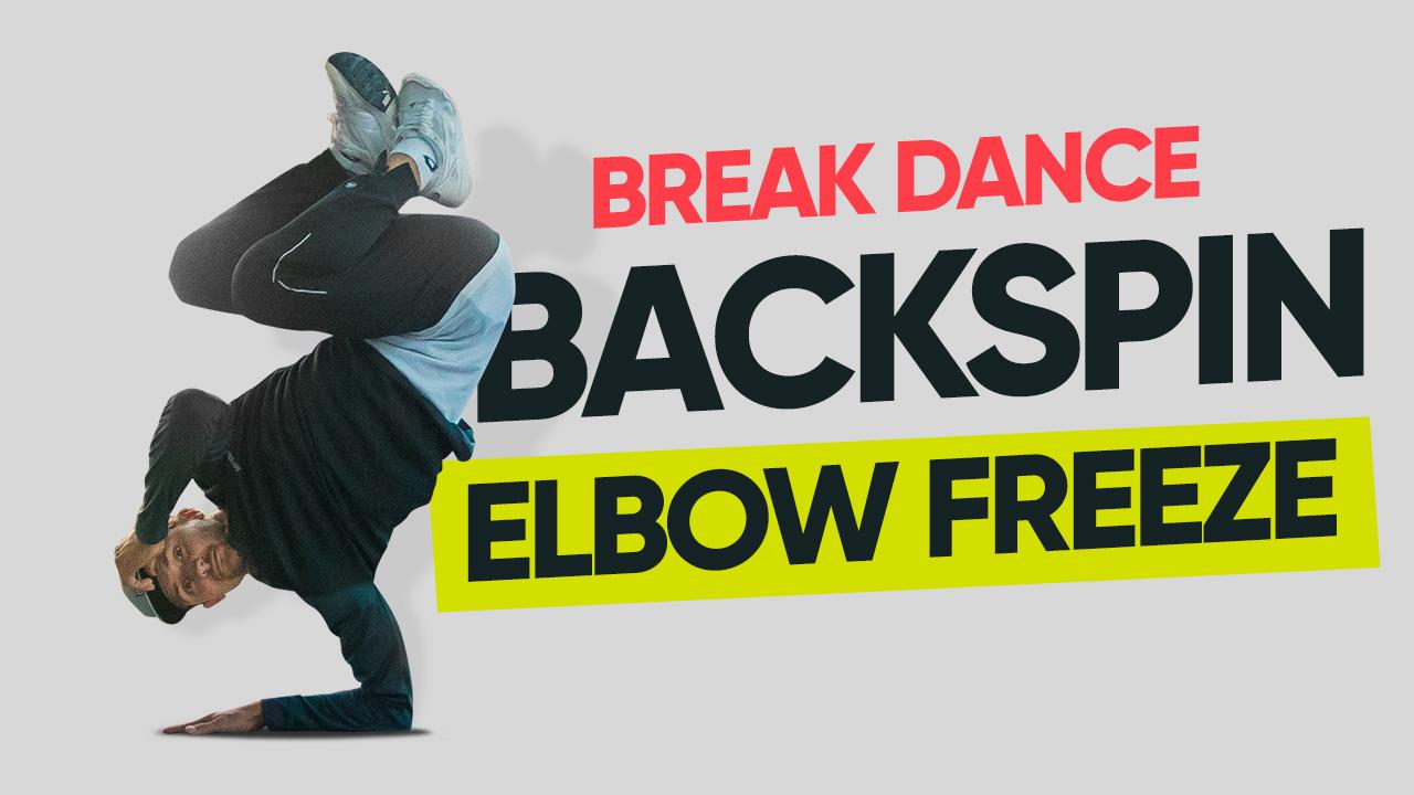 Backspin → фриз на локте - Брейк данс урок