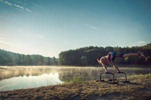 Совмещение базовых упражнений с элементами - Street Workout