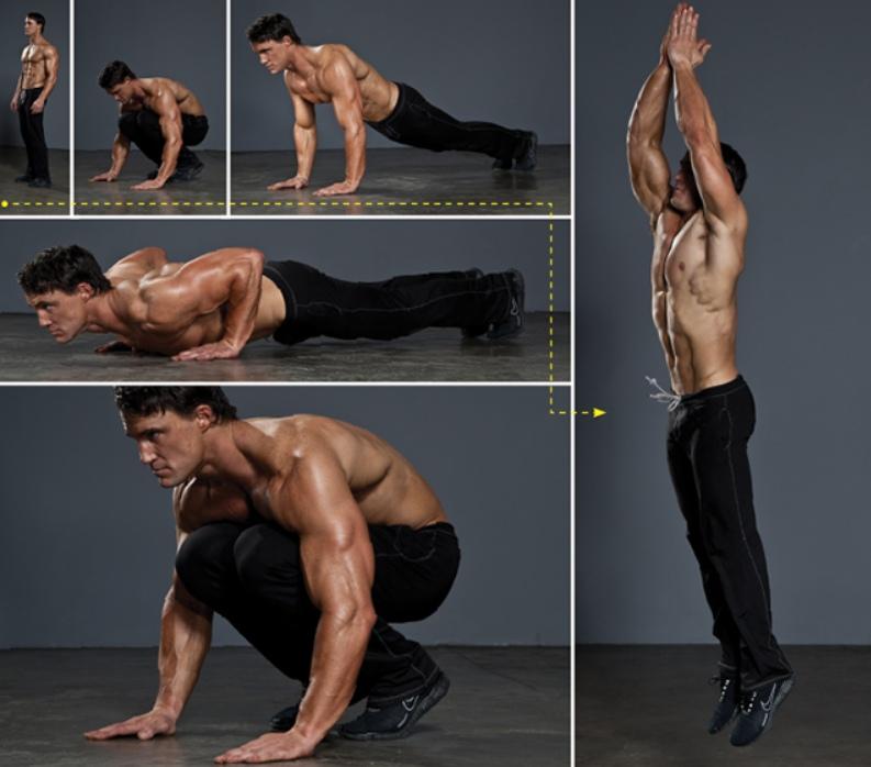 Как выглядит упражнение берпи