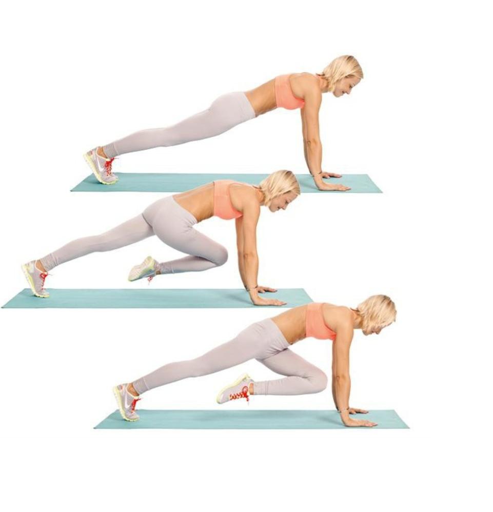 Как делать упражнение скалолаз